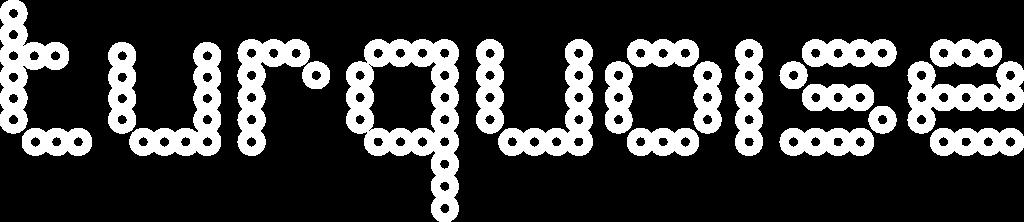Turquoise logo white